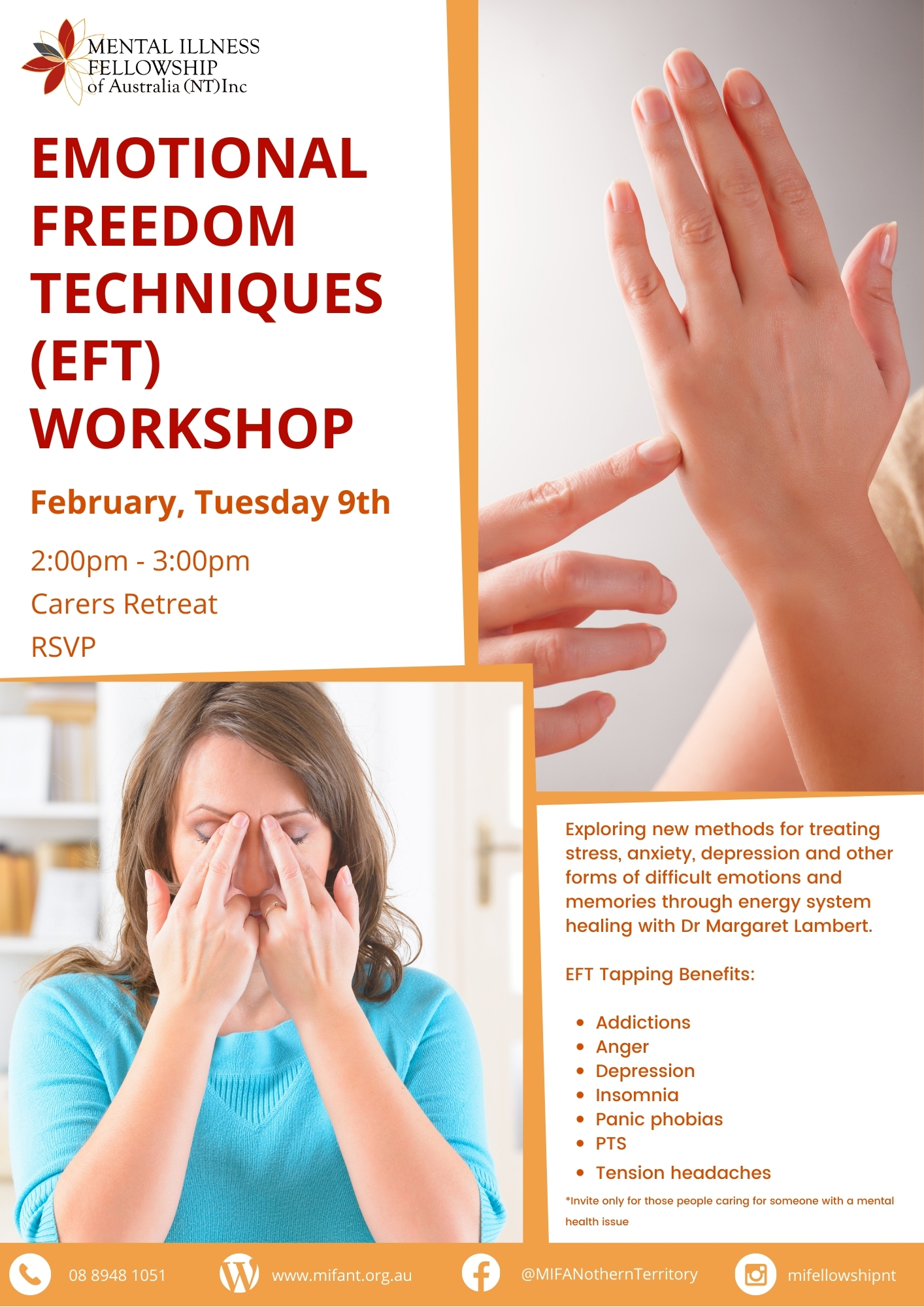 Emotional Freedom Techniques (EFT) workshop